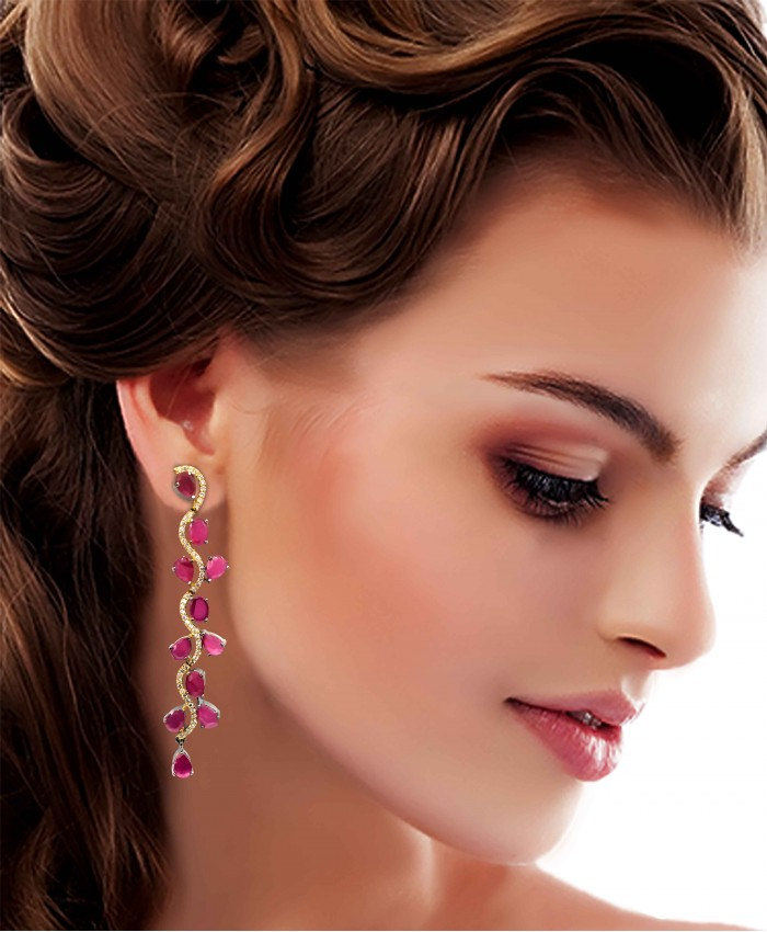 Antique Harsita Dangle Earrings