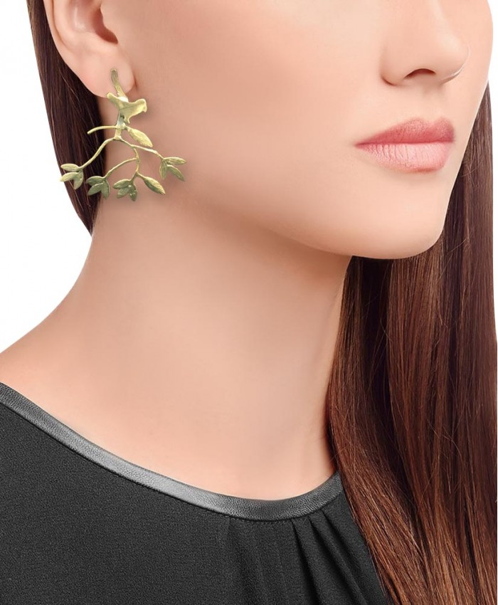 Aaradhya Gold Plated Fashionable Bird Earrings