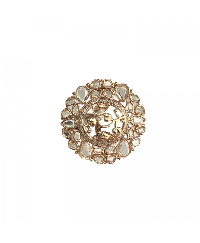 Akshara Rose Gold Plated Rose Cut Diamond Rings