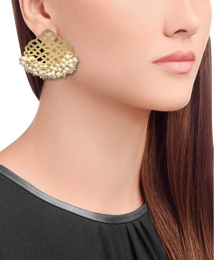 Kavya Gold Plated Studs