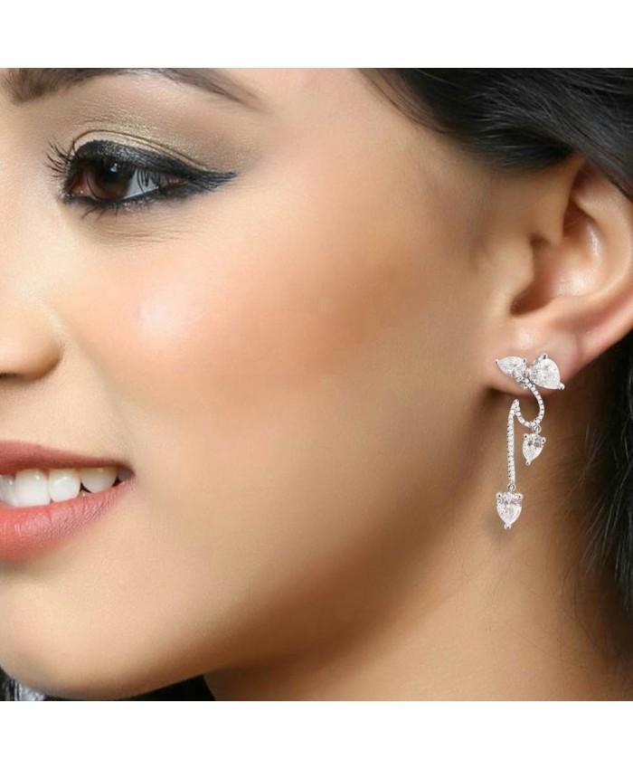 925 Sterling Silver Beautiful Stone Earring