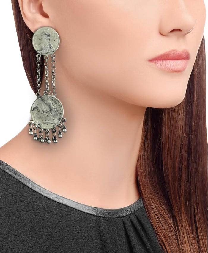 Ayukta Long Coin Earrings