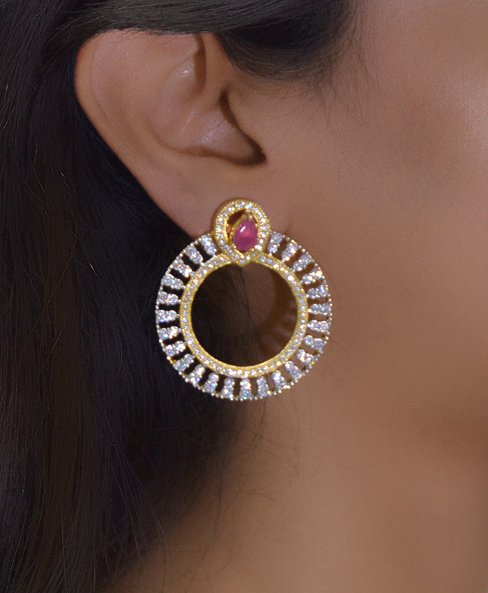 Ani American Diamond Earrings