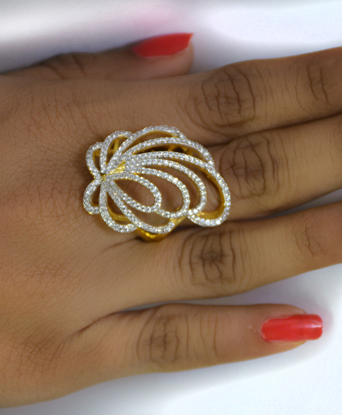 Gold Plated Purna Cocktail Ring