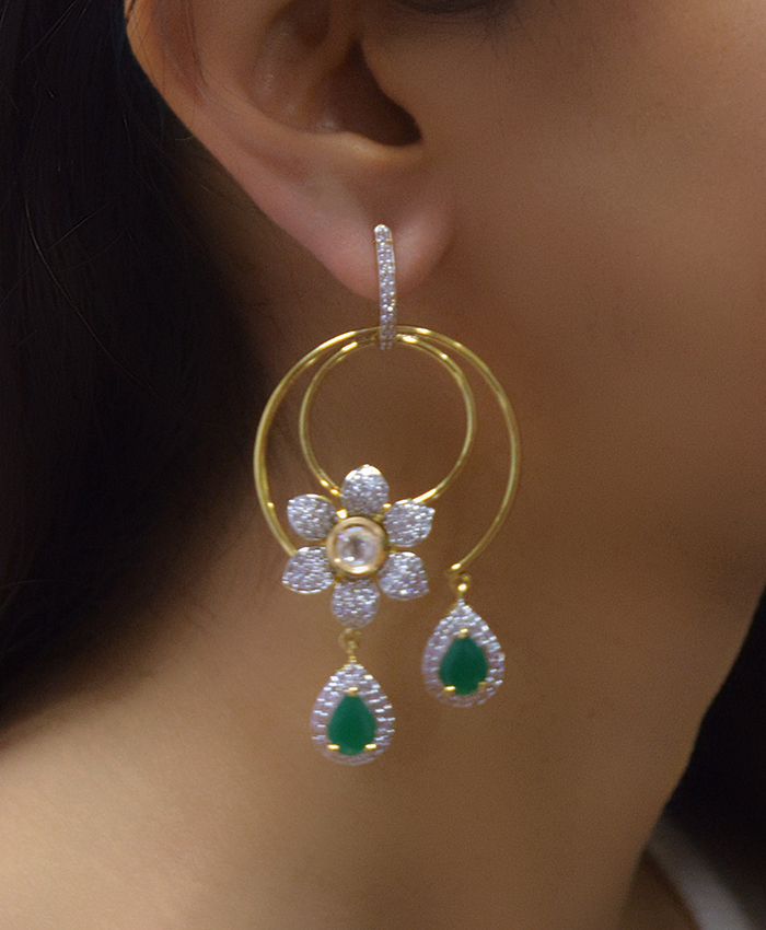 Beautiful Shayna Flower Earring