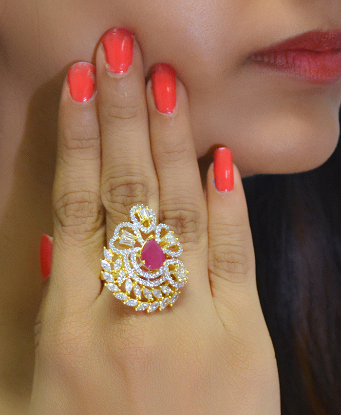 Gold Plated Paridhi Ring