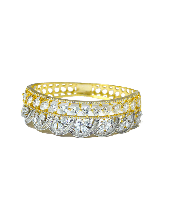 Harshika Gold Plated and American Diamond Bracelet