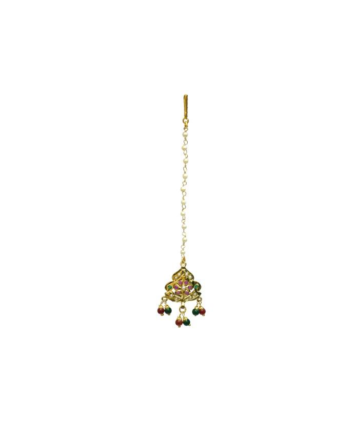 Beauteous Nishka Gold Multicolor Tika