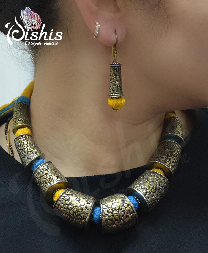 Ravishing Samiksha Oxidised Necklace Set