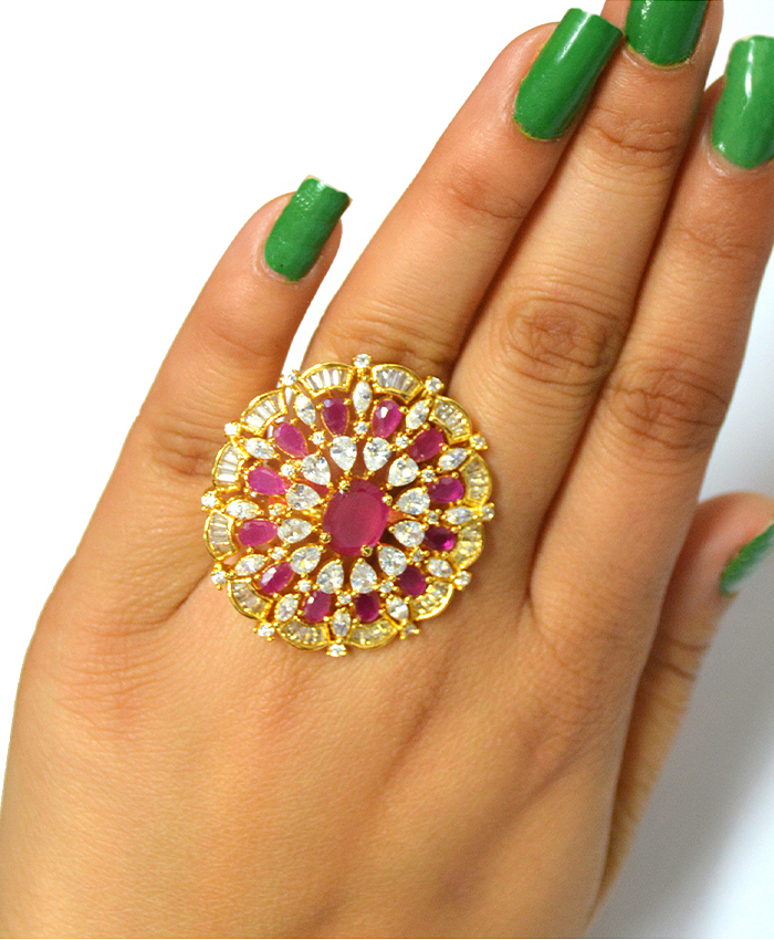 Glitterig Sarina Ring Golden Plated Ring