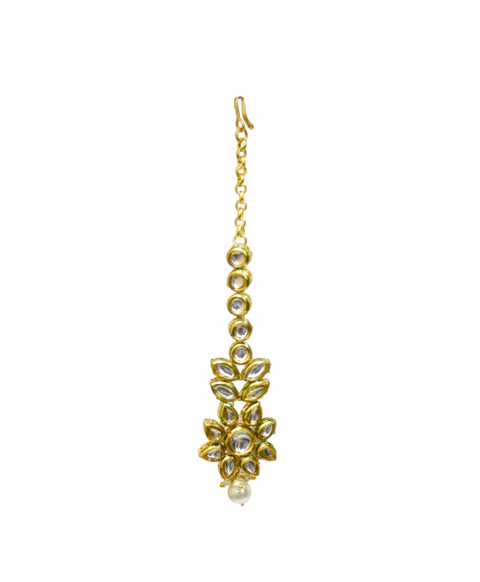 Attractive Shashi Gold Plated Kundan Tika