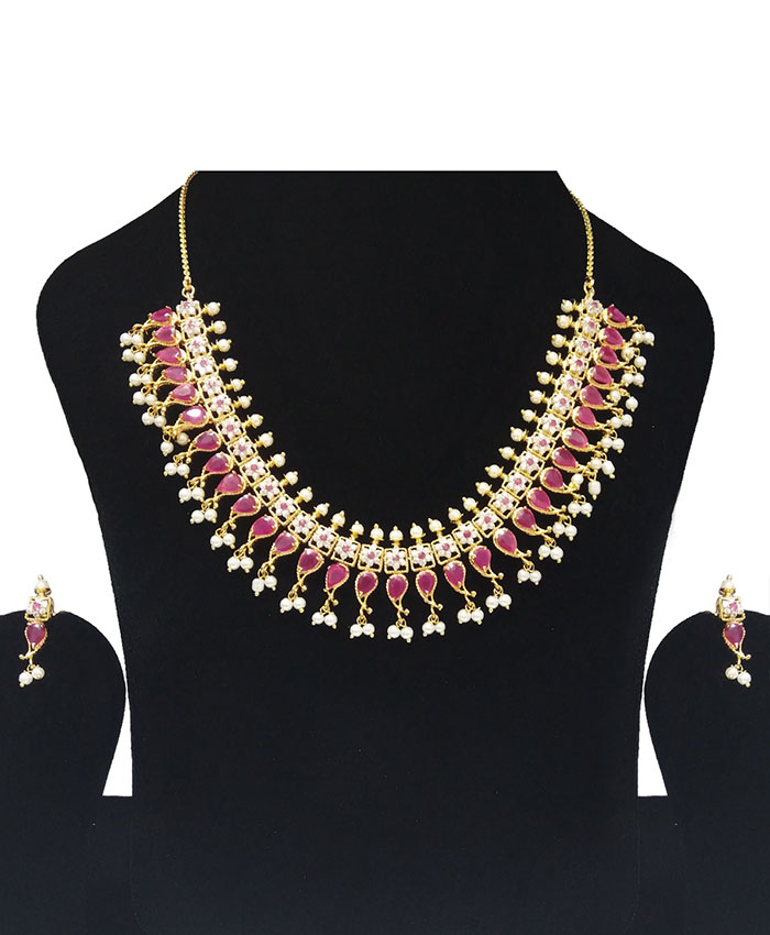 Elegant Aishaanya Gold Plated American Diamond Necklace