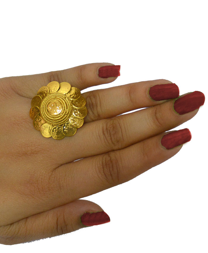 Ahana Gold Plated Cocktail Ring